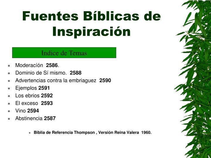 Fuentes Bíblicas de Inspiración