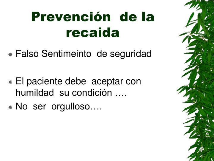 Prevención  de la recaida