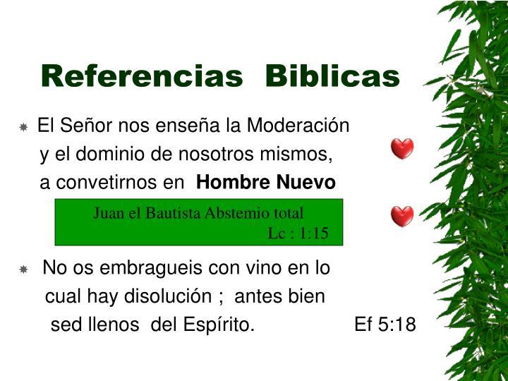 Referencias  Biblicas