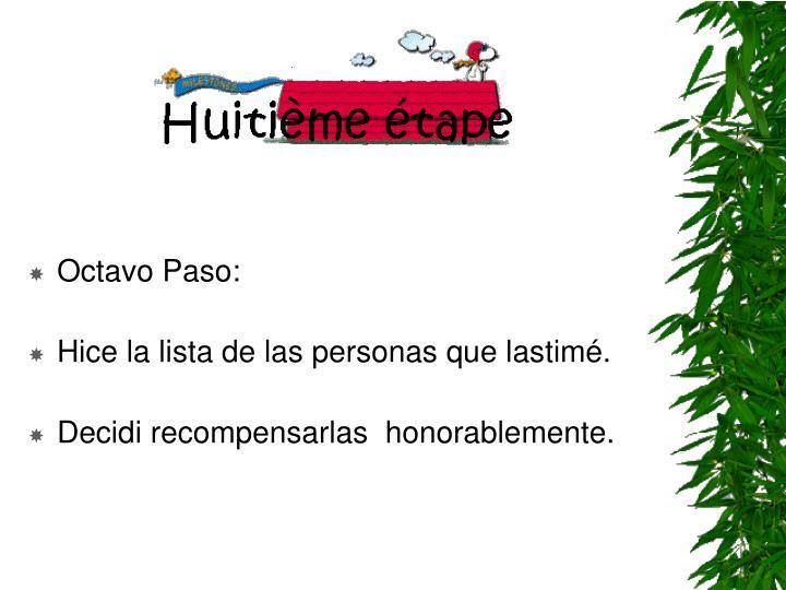 Octavo Paso: