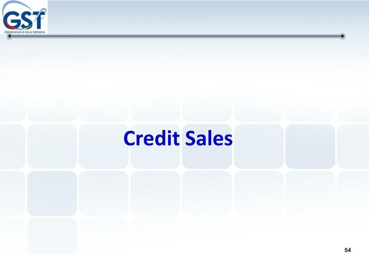 Credit Sales