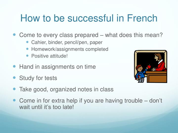 How to be successful in French