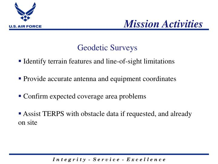 Mission Activities