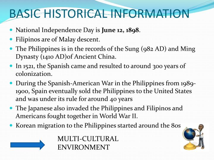 BASIC HISTORICAL INFORMATION
