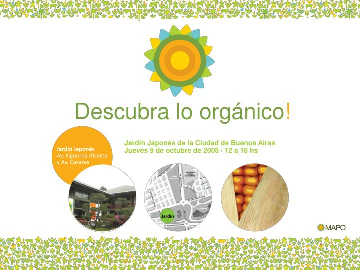 Descubra lo orgánico