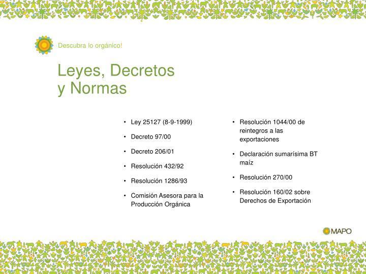 Leyes, Decretos