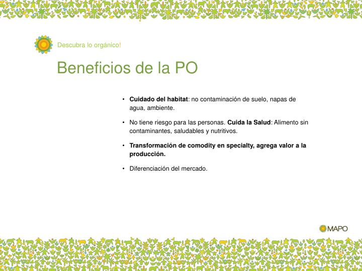 Beneficios de la PO