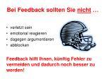bei feedback sollten sie nicht