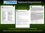 paperwork requirements
