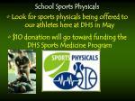 school sports physicals