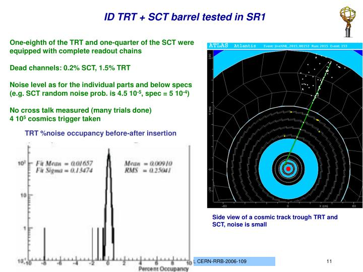 ID TRT + SCT barrel tested in SR1