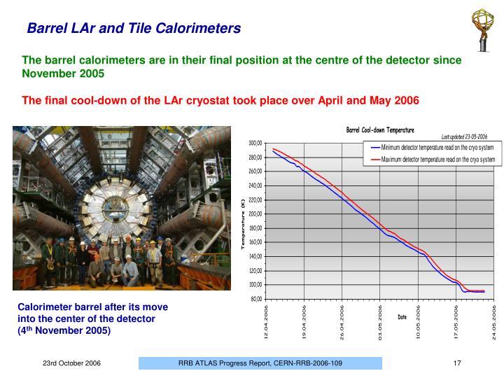 Barrel LAr and Tile Calorimeters