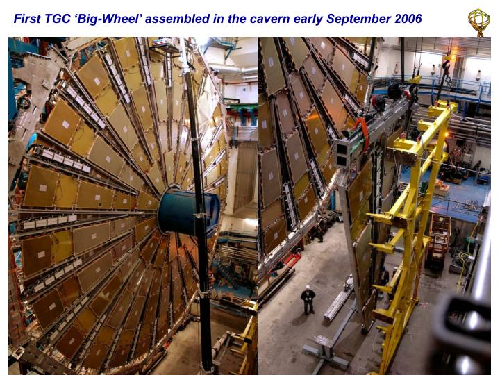 First TGC 'Big-Wheel' assembled in the cavern early September 2006