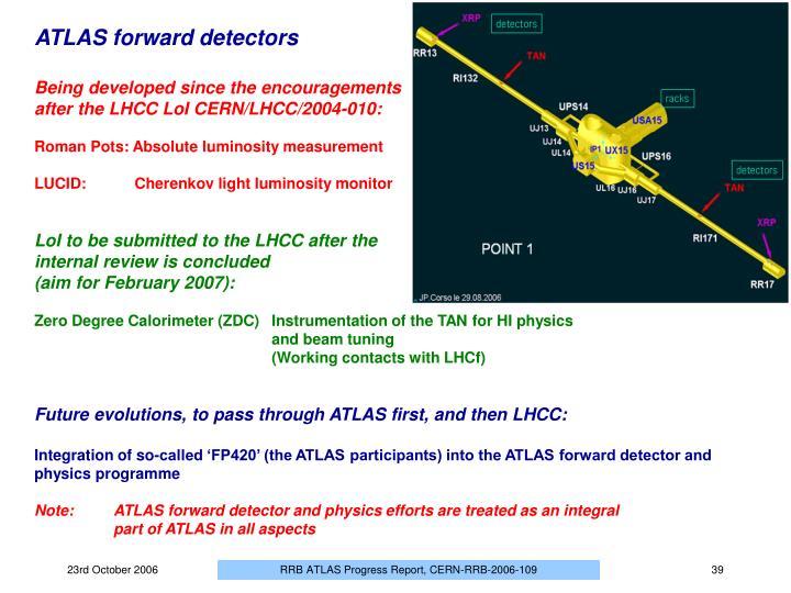 ATLAS forward detectors