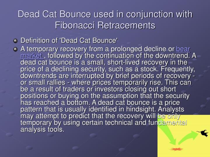 Dead Cat Bounce used in conjunction with Fibonacci Retracements