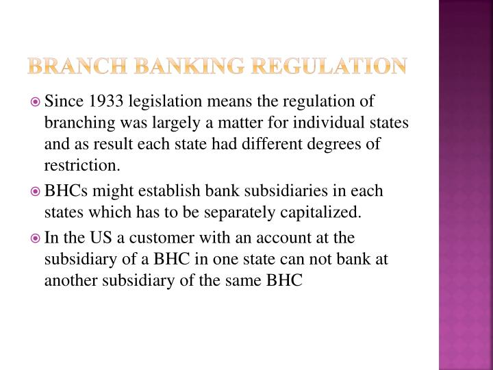 Branch Banking Regulation