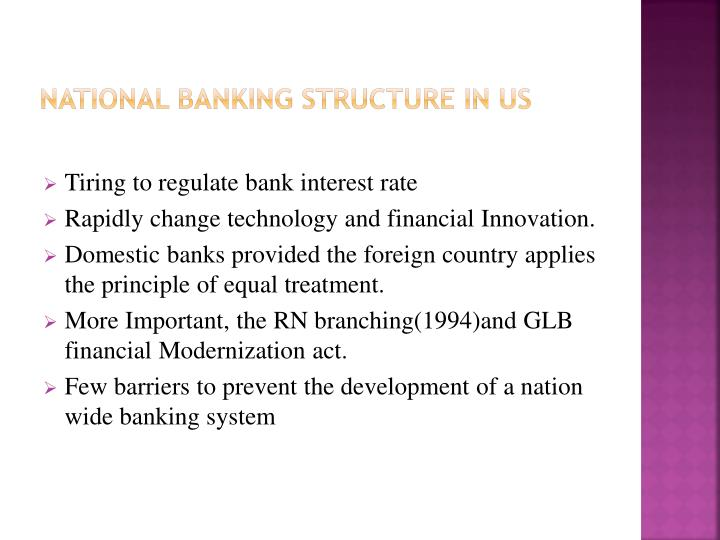National banking Structure in Us