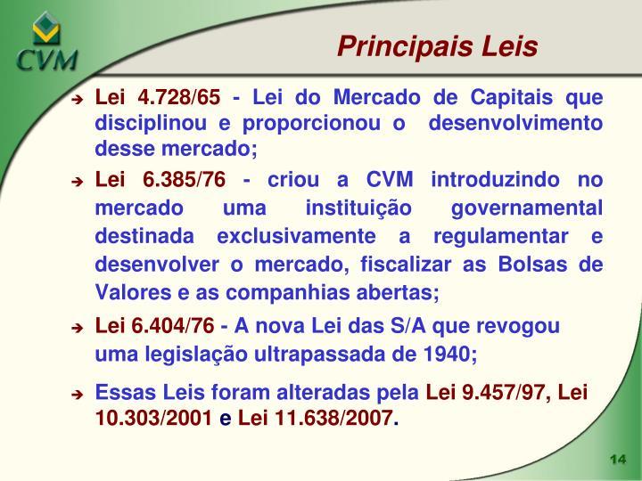 Principais Leis