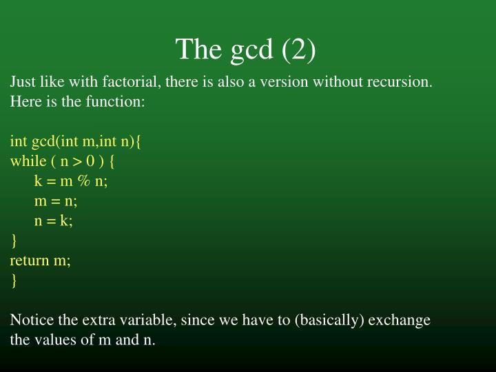 The gcd (2)