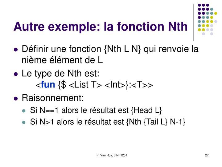 Autre exemple: la fonction Nth