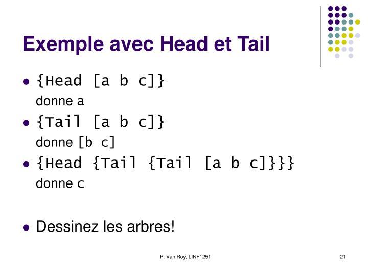 Exemple avec Head et Tail