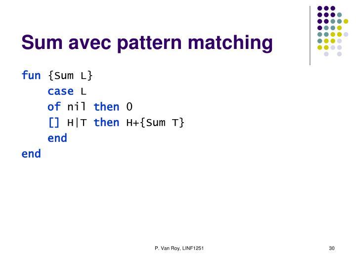 Sum avec pattern matching