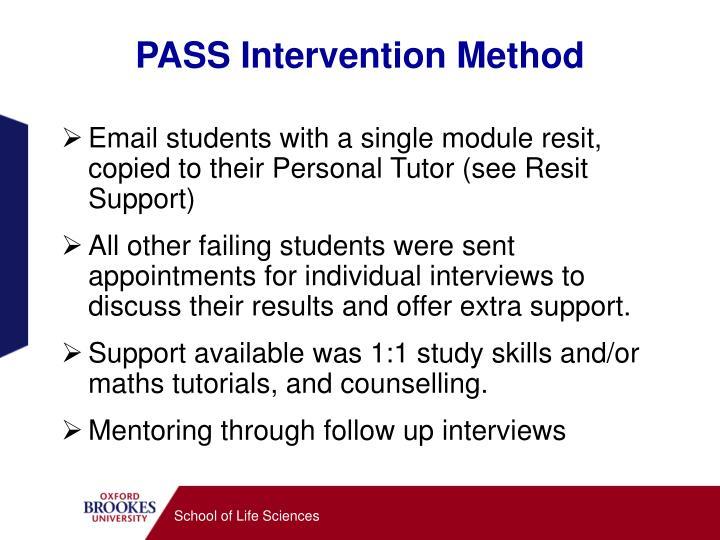 PASS Intervention Method