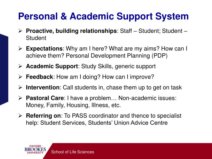Personal & Academic Support System