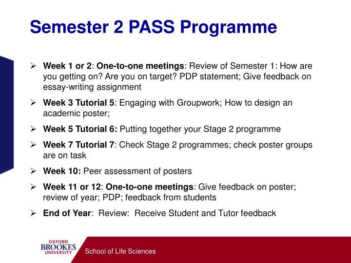 Semester 2 PASS Programme