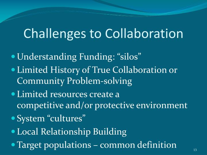 Challenges to Collaboration