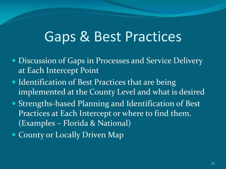 Gaps & Best Practices