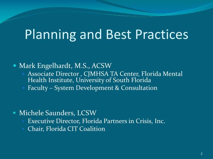 Planning and Best Practices