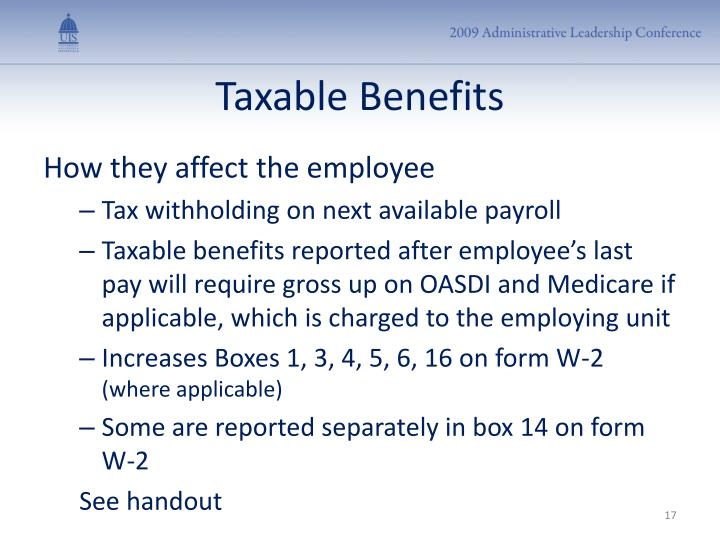 Taxable Benefits