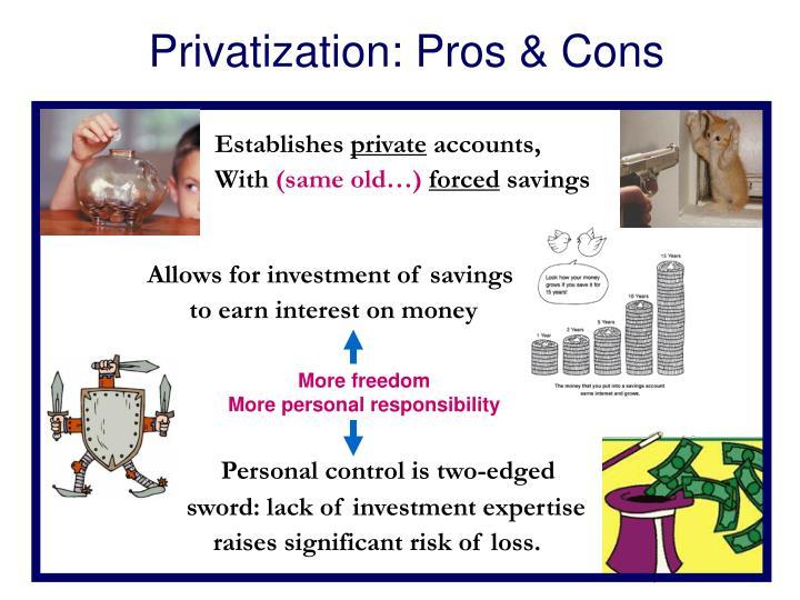 Privatization: Pros & Cons