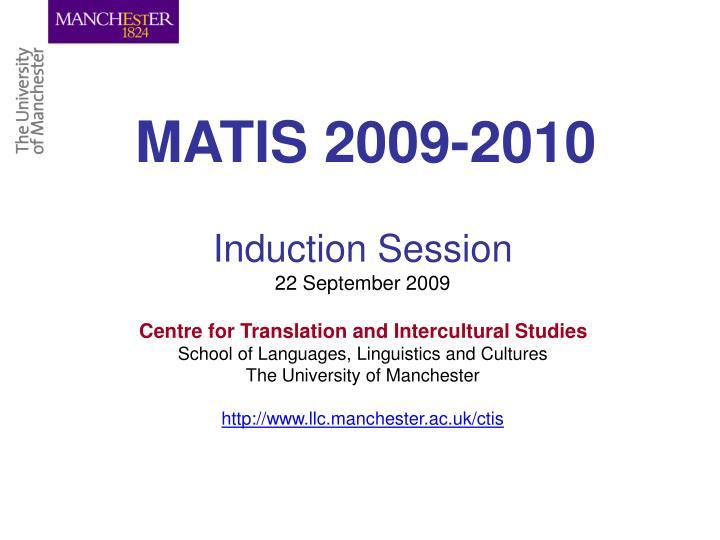 MATIS 2009-2010