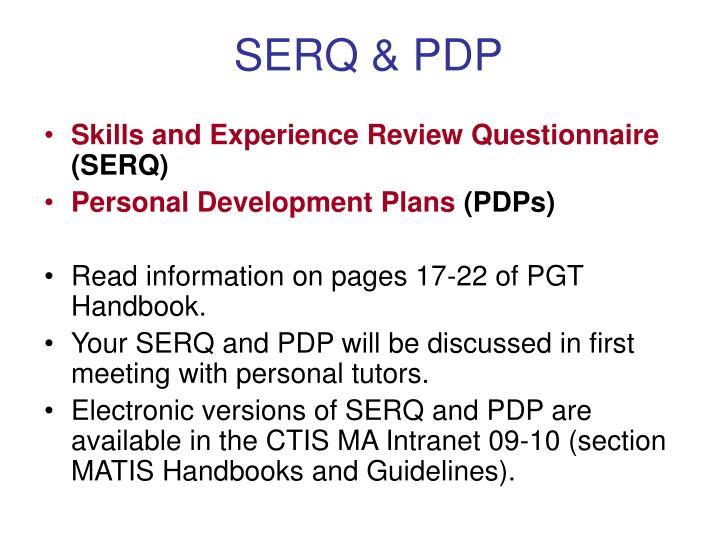 SERQ & PDP