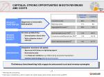 capitalia strong opportunities in both revenues and costs