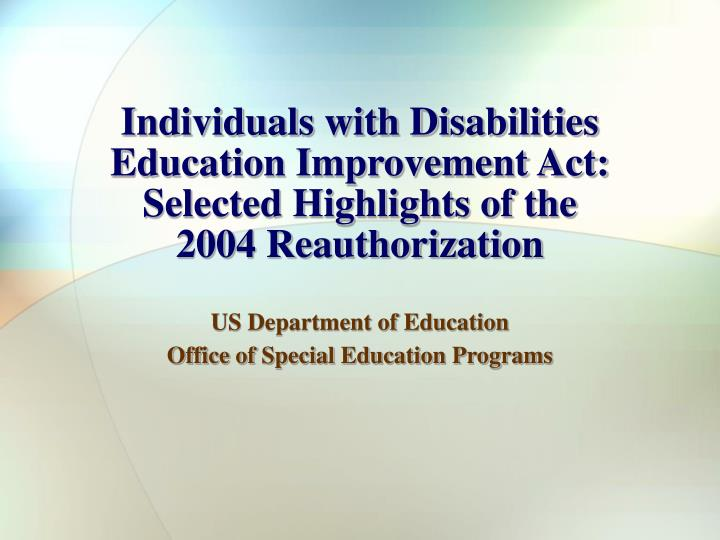 idea individual with disabilities education act essay