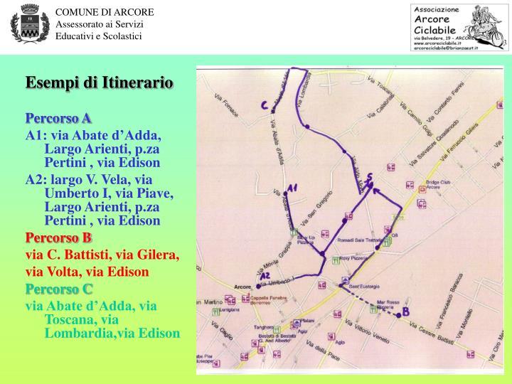 Esempi di Itinerario