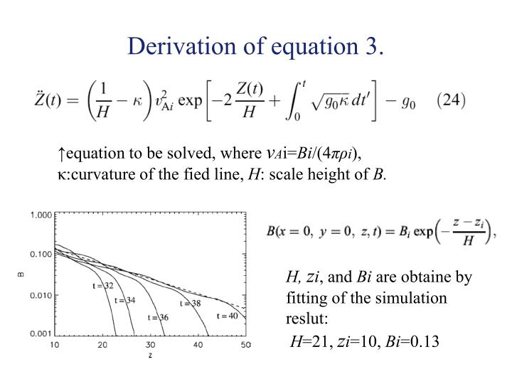 Derivation of equation 3.