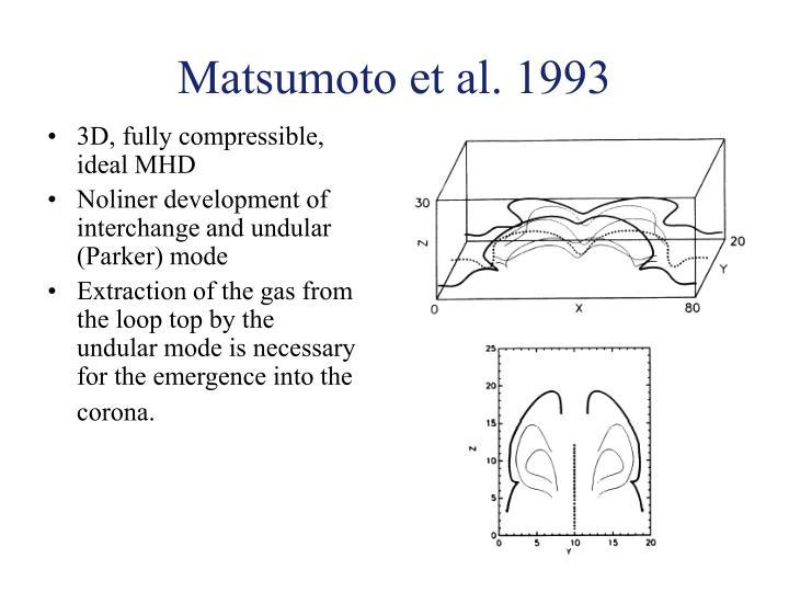 Matsumoto et al. 1993