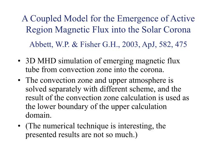 A Coupled Model for the Emergence of Active Region Magnetic Flux into the Solar Corona