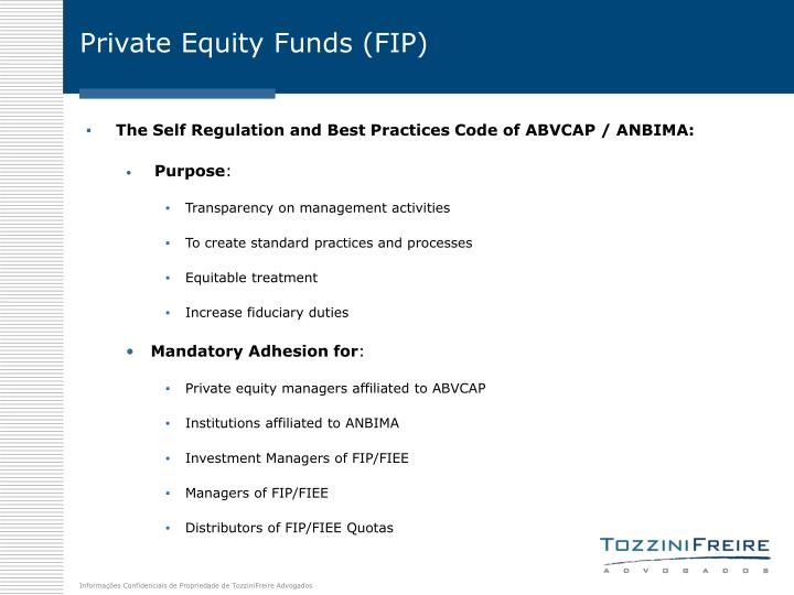 Private Equity Funds (FIP)
