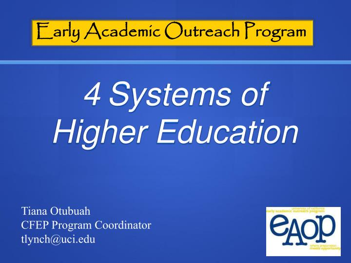 Early Academic Outreach Program