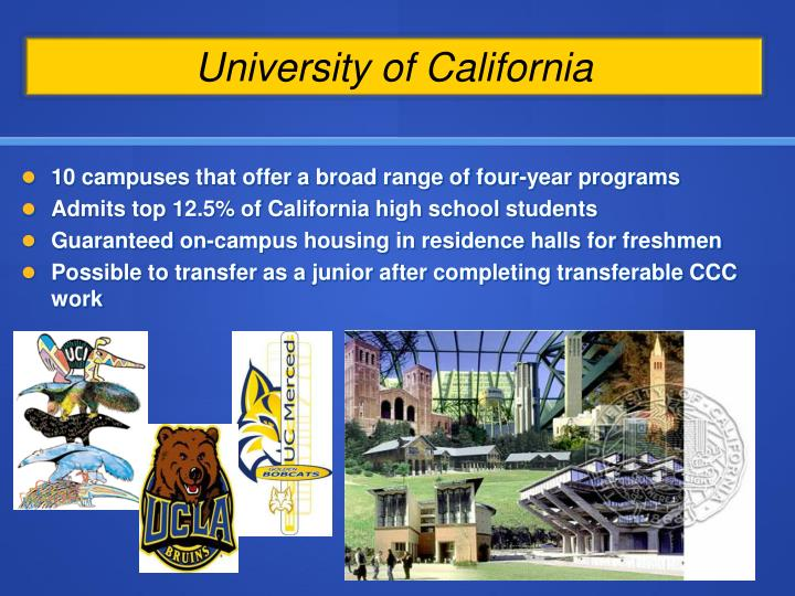 10 campuses that offer a broad range of four-year programs