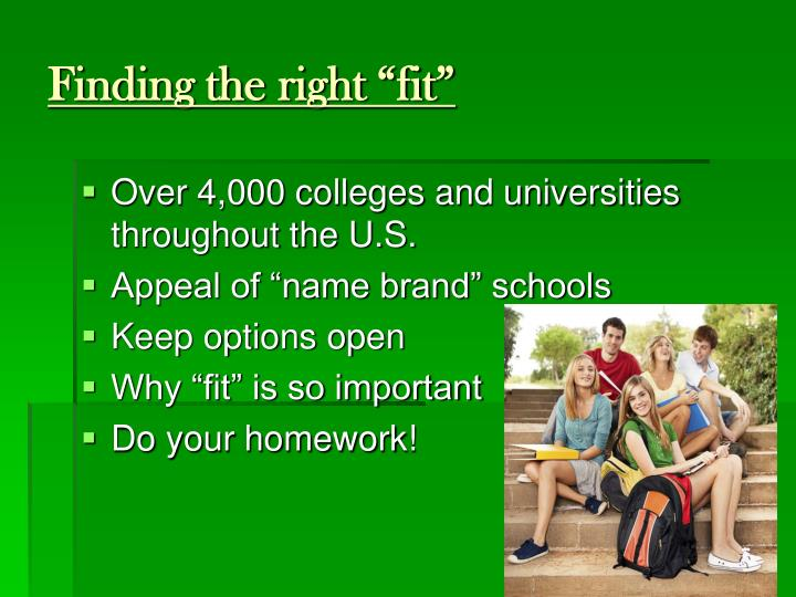 "Finding the right ""fit"""