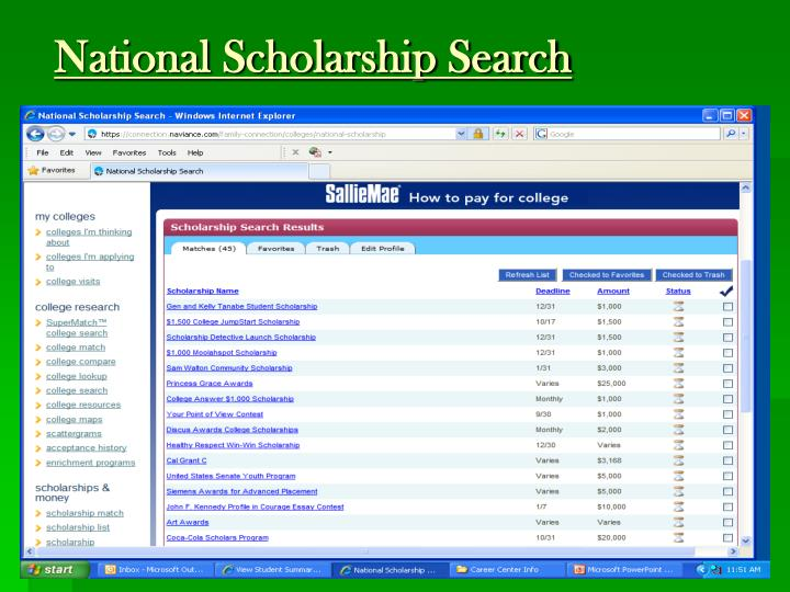 National Scholarship Search