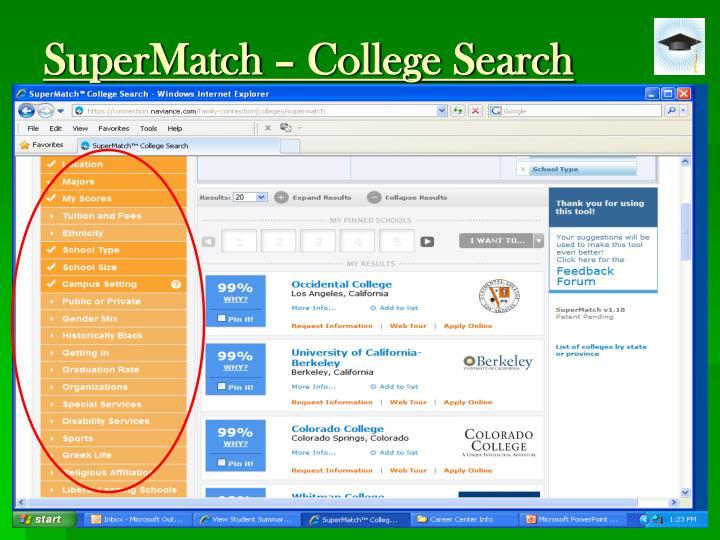 SuperMatch – College Search