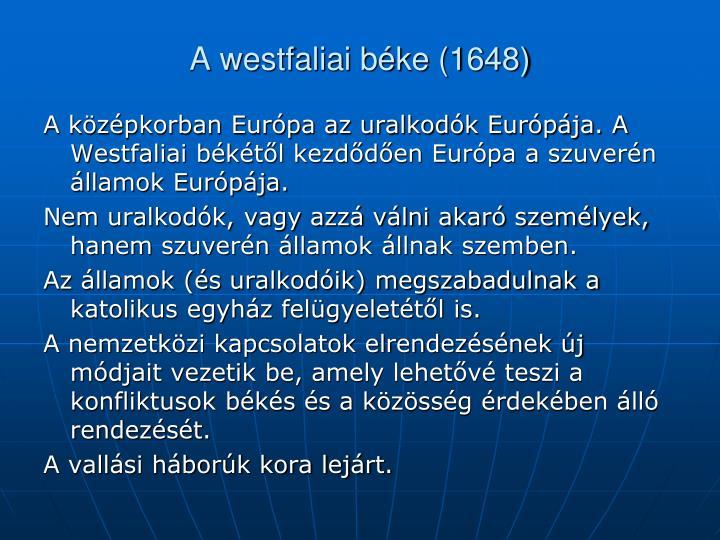 A westfaliai béke (1648)
