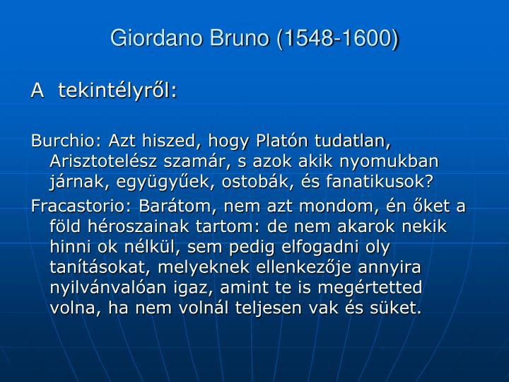 Giordano Bruno (1548-1600)